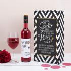 Was für ein Glück - Wein Geschenkset mit Weinglas und Geschenkbox