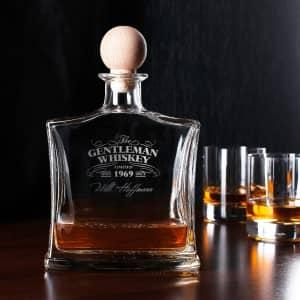 Whiskykaraffe graviert