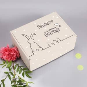 Geschenkverpackung zu Ostern mit Name
