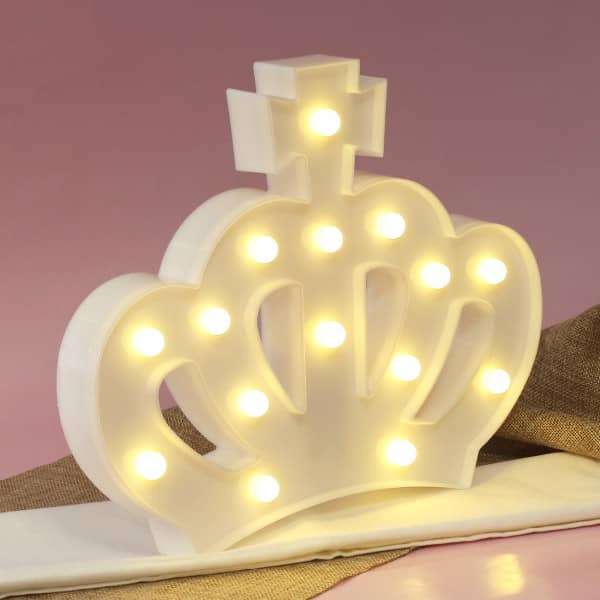 LED Krone in weiß