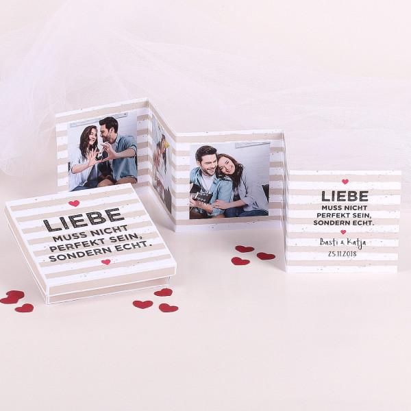 Mini Fotobuch mit passender Verpackung