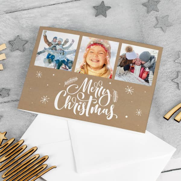 Nützlichgrusskarten - Merry Christmas Foto Weihnachtskarte mit Ihren Lieblingsbildern - Onlineshop Geschenke online.de