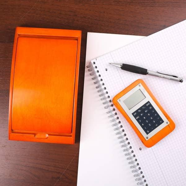 Schreibset Taschenrechner und Kugelschreiber