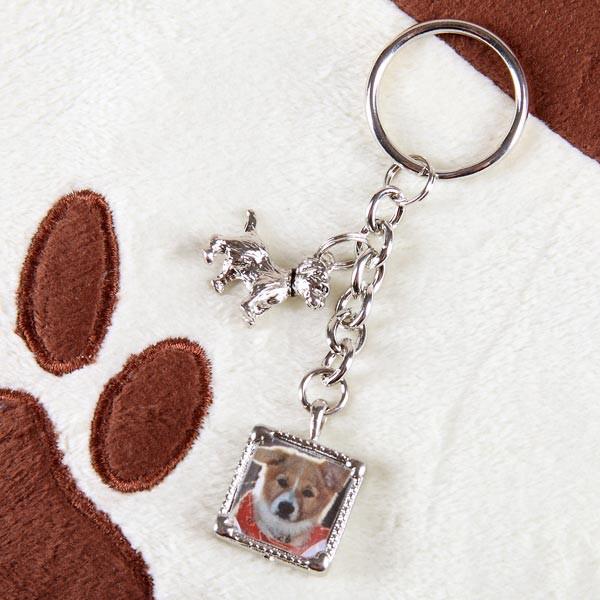 Schlüsselanhänger mit Foto für Hundeliebhaber