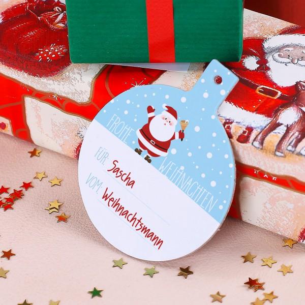 Geschenkanhänger-Set zu Weihnachten mit Wunschnamen