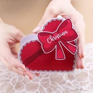 Pralinenschachtel mit Name zum Valentinstag