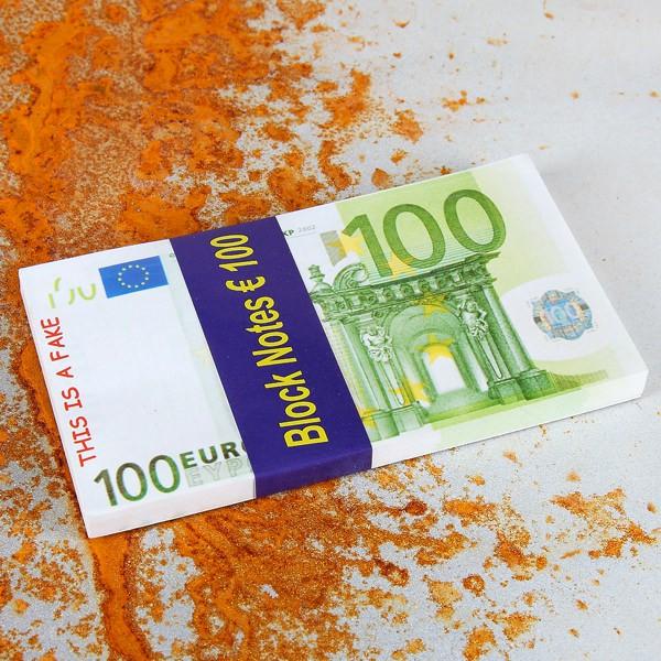 Notizblock 100 € - Schein