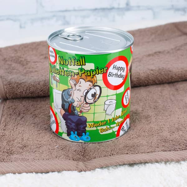 Notfall Toilettenpapier in der Dose