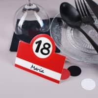 Tischkarten zum 18. Geburtstag