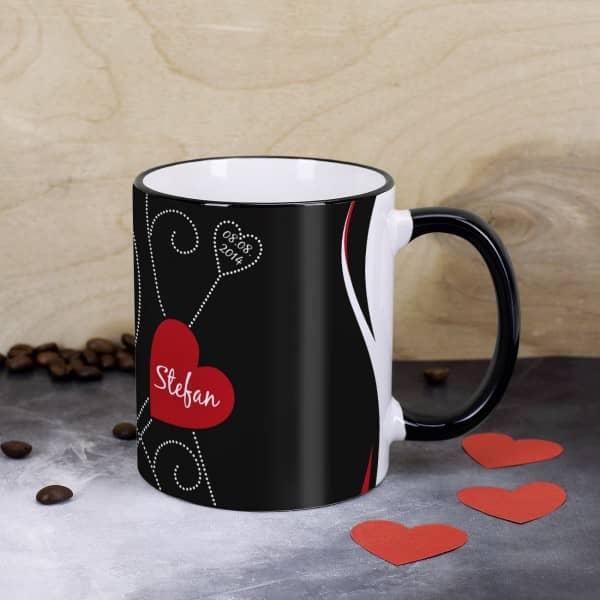Tasse für Verliebte mit Namen