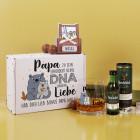 Papa zu sein erfordert keine DNA sondern Liebe - Whisky Geschenkset zum Vatertag