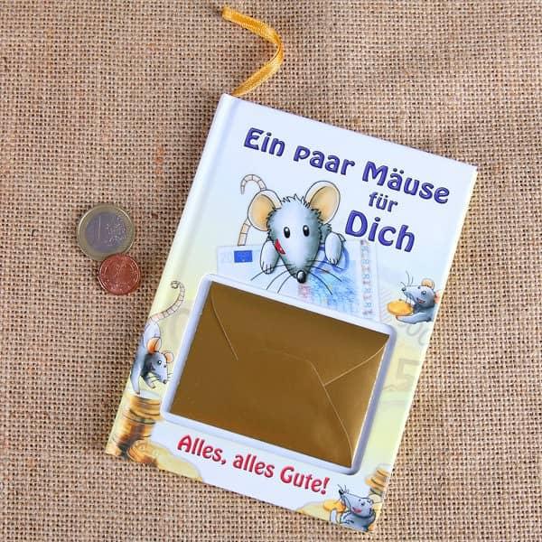 Buch -Mäuse für Dich- als Geldgeschenk