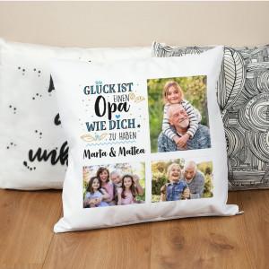 Fotokissen für Opa mit Text