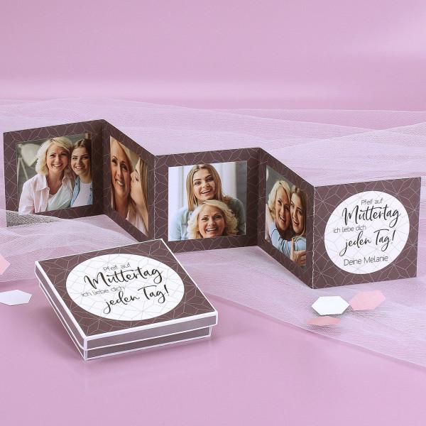 Kleines Fotoalbum mit Geschenkbox für Mütter
