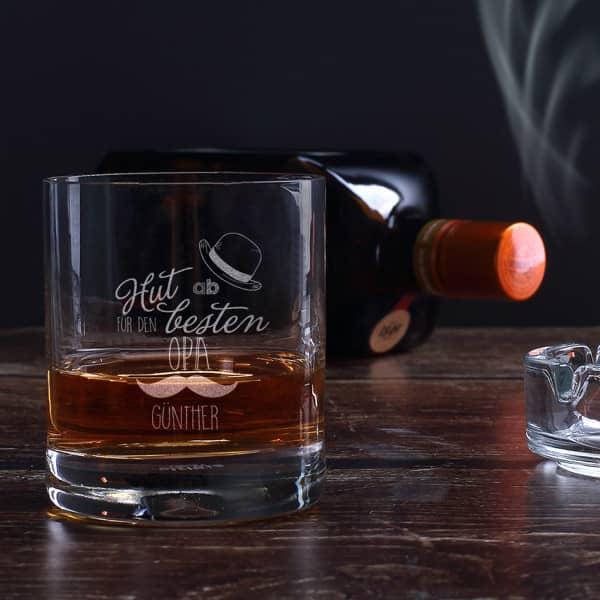 Whiskeyglas für den besten Opa Hut ab!