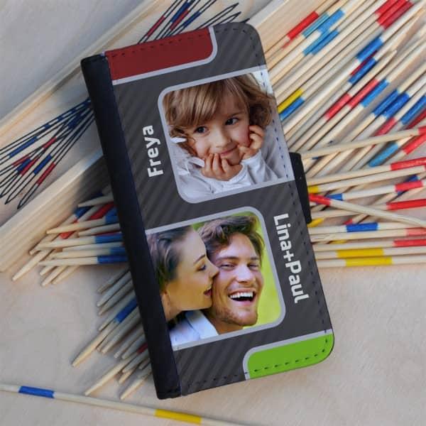 Flipcase mit moderner Fotocollage für 2 Ihrer Lieblingsbilder.