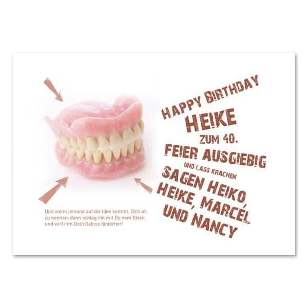 Postkarte zum Geburtstag