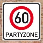 Riesiges PVC Verkehrsschild zum 60. Geburtstag