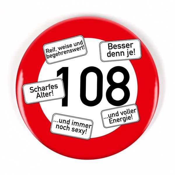 Button zum 108. Geburtstag