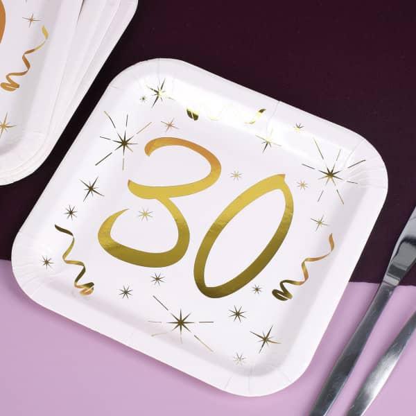 Pappteller zum 30. Geburtstag