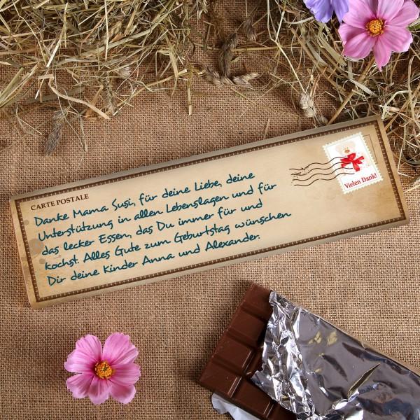 Danke-Schokolade mit viel Platz für Ihren Text