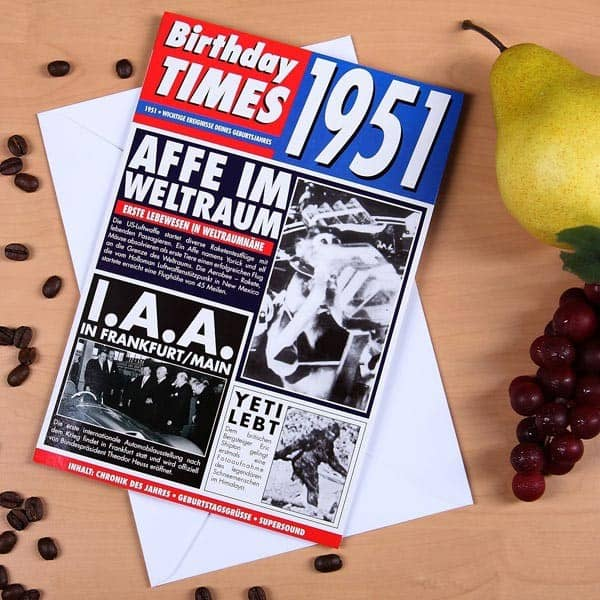 Birthday Times Karte mit Sound 1951