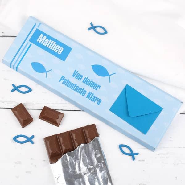 Personalisierte Schokolade zur Kommunion