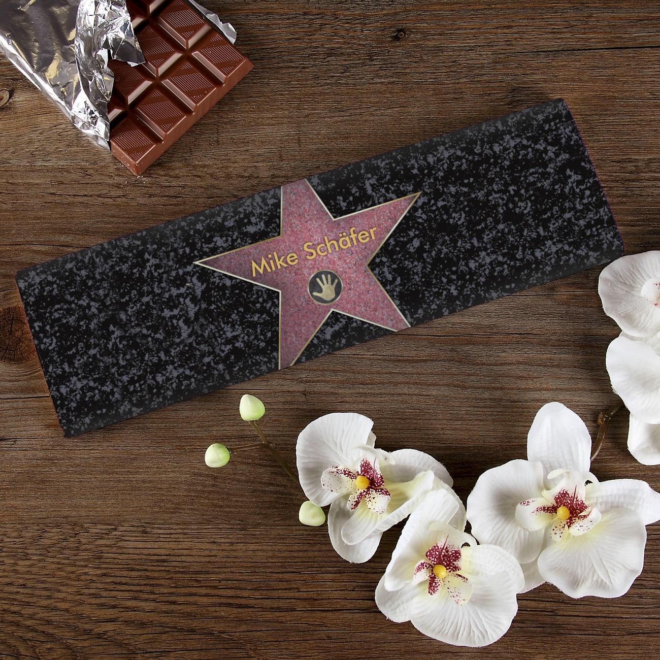 schokolade f r stars und sternchen geschenke. Black Bedroom Furniture Sets. Home Design Ideas