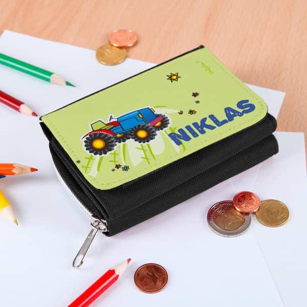 Kindergeldbörse mit Traktormotiv
