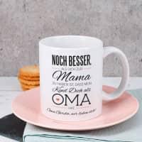 Tasse für die beste Oma mit Spruch und Wunschtext
