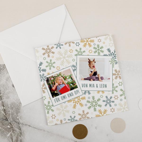 Foto Weihnachtskarte mit Ihren Wunschtexten