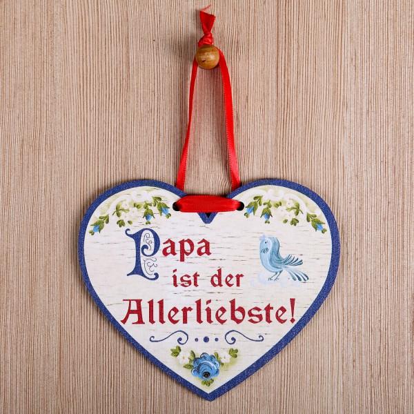 Holzherz - Papa ist der Allerliebste