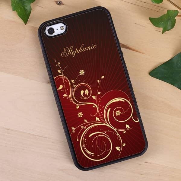 schwarze Handyhülle iPhone 5(s) mit persönlichem Aufdruck