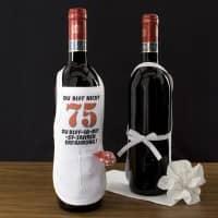 kleine Flaschenschürze zum 75. Geburtstag