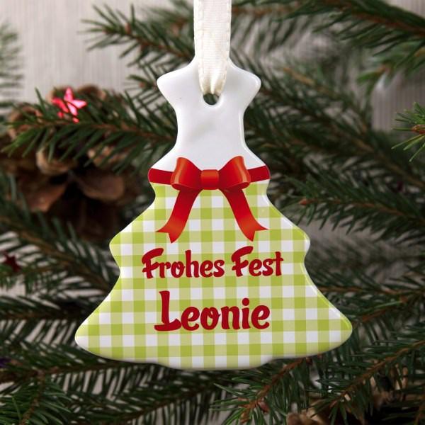 Weihnachtsbaumschmuck mit Namen