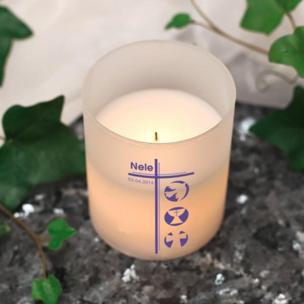 LED Kerze persoanlisiert mit Name und Datum