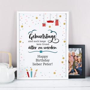 Bilderrahmen zum Geburtstag personalisiert