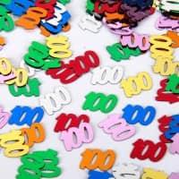 Zahlenkonfetti 100