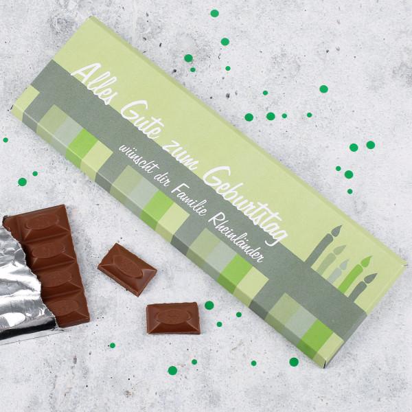 300g Schokolade zum Geburtstag mit Wunschtext