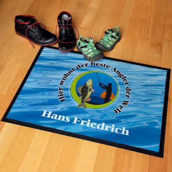 Persönliche Fußmatte für Angler