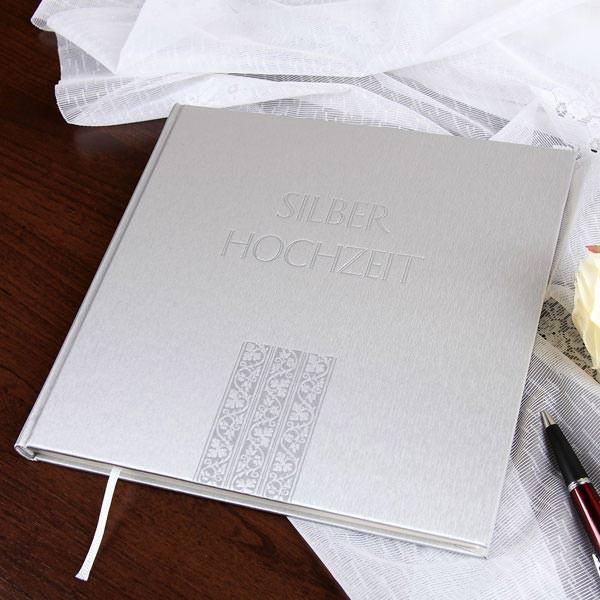 Gästebuch in metallic silber