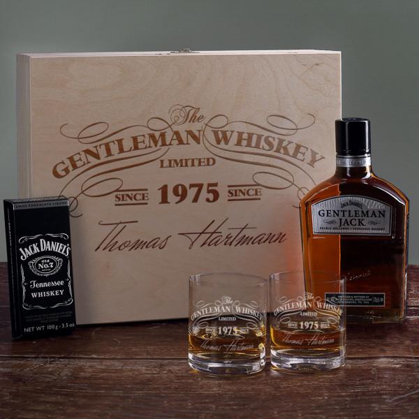 personalisiertes Jack Daniels Whiskey Geschenkset für Gentleman