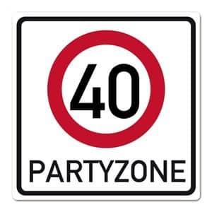 Verkehrsschild Partyzone 40