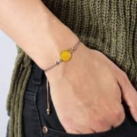 Leonardo Freundschafts-Armband mit Pinky Promise Motiv und Wunschtext