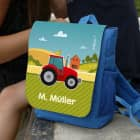 Kindergartenrucksack mit Traktor und Wunschtext