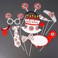 Photo Booth - Set für Partyfotos zum 18. Geburtstag