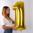 Riesiger Folienballon in gold - 1