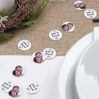 XL - Fotokonfetti zur Hochzeit mit Namen und Blüten