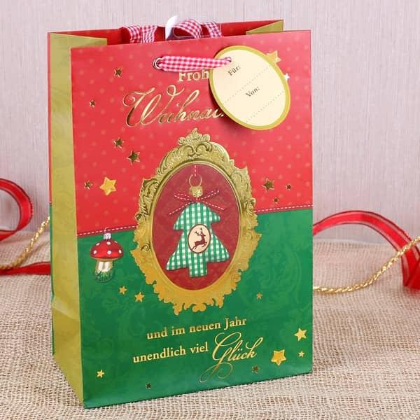 Weihnachtstüte für Geschenke
