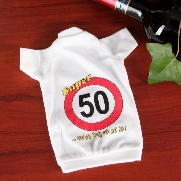 Flaschen T-Shirt Verkehrszeichen 50